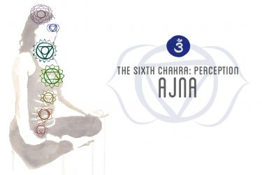 "Ajna, ""to perceive,"" third eye chakra"