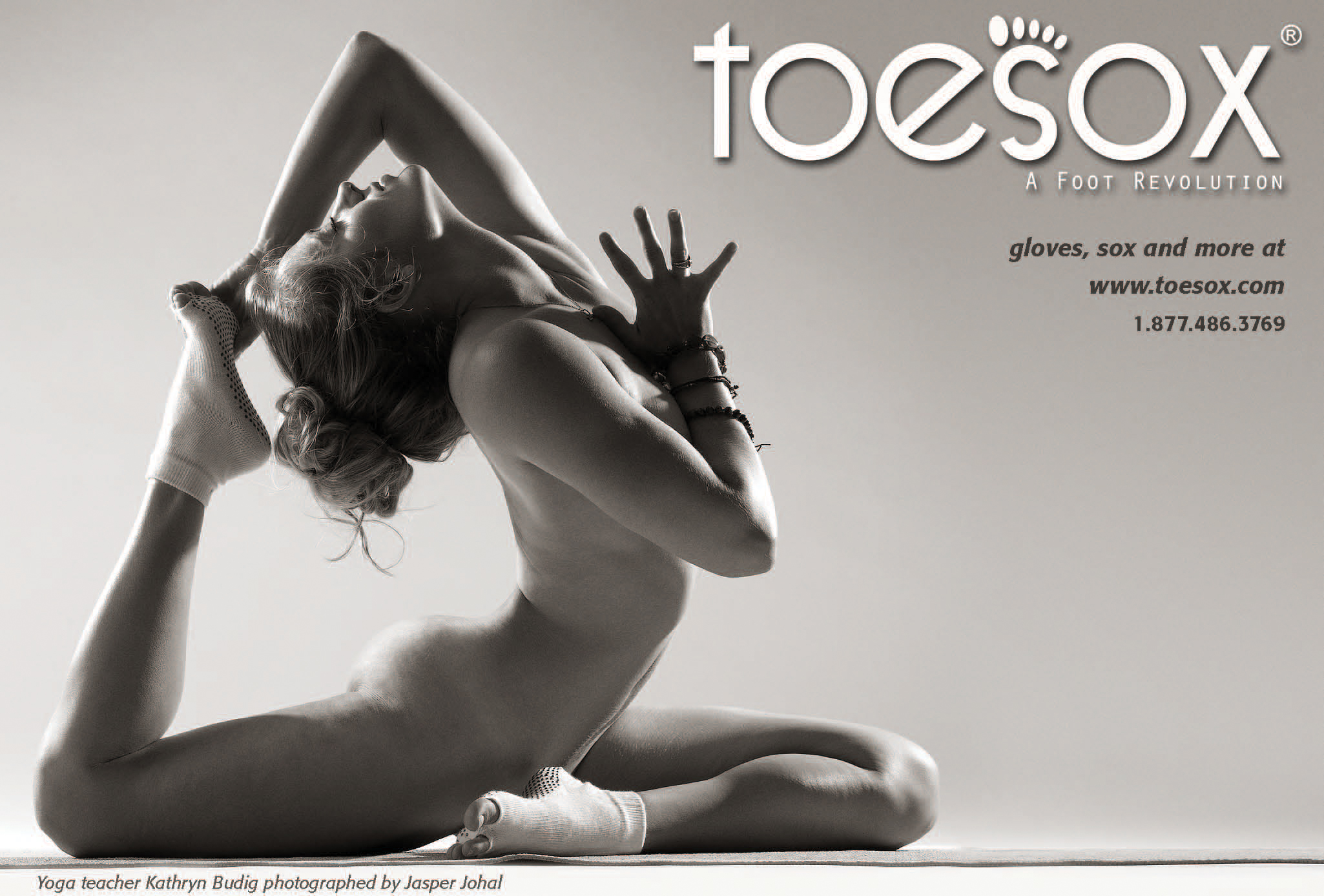ToeSox naked yoga ad