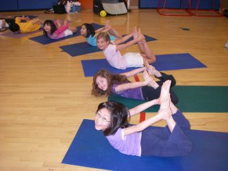 yoga class in school