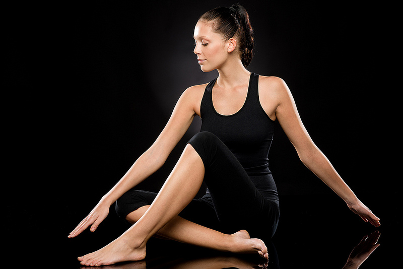 yoga pose knees