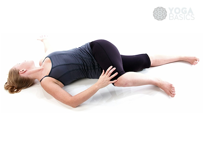 Knee Down Twist / supta matsyendrasana