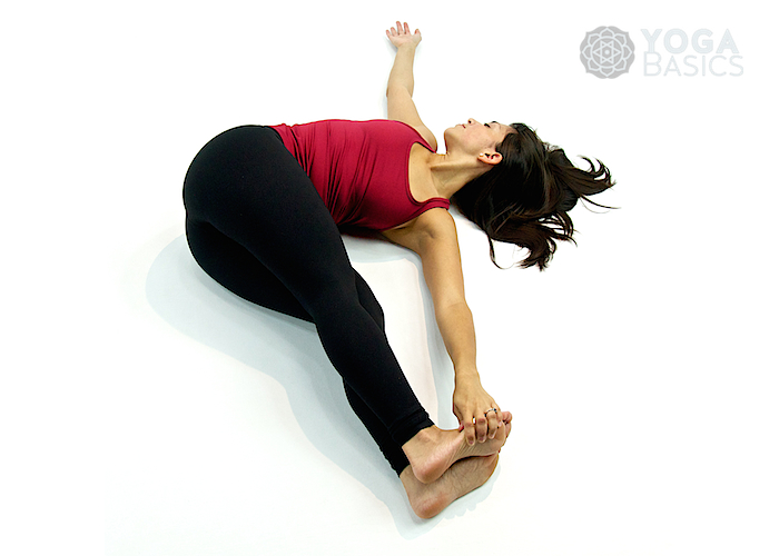 Belly Twist Version B Pose Yoga Basics