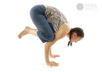 Crane yoga pose