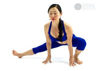 Extended Leg Squat • utthita namaskarasana