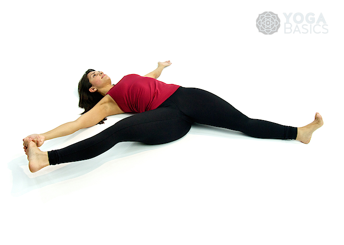 Supine Hand To Toe Pose Yoga Basics