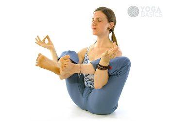 belly twist version b pose • yoga basics