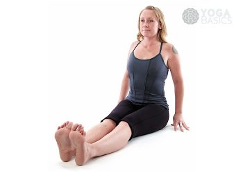 Staff Yoga Pose / dandasana