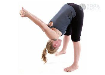 standing forward fold pose • yoga basics