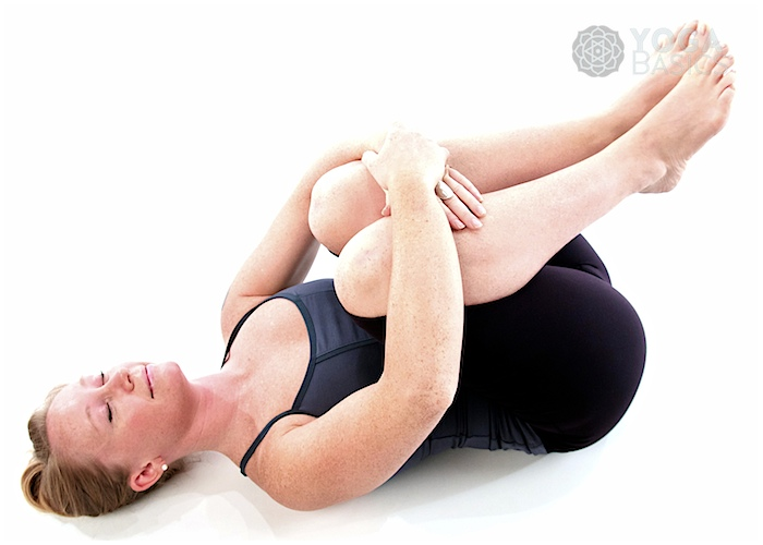 Wind Relieving Pose / pavana muktasana