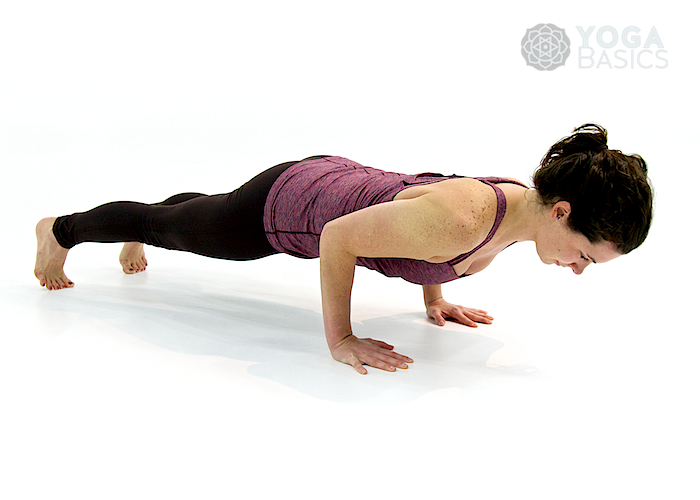 Four Limbed Staff Pose • Chaturanga