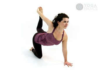 One Handed Tiger Pose • eka hasta vyaghrasana