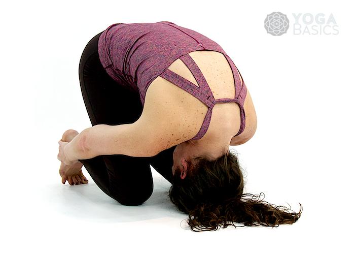 Rabbit Yoga Pose • sasangasana