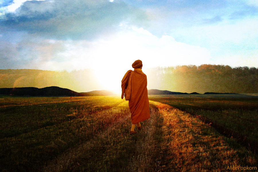 monk on spiritual path