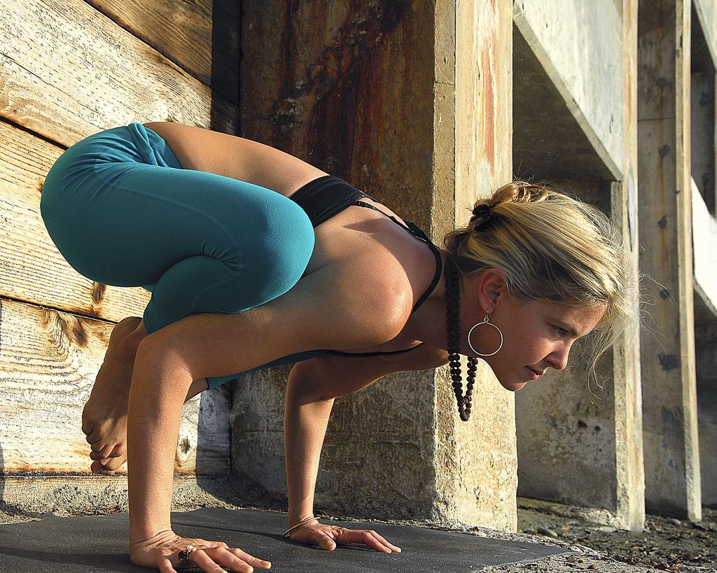 fear of falling in yoga pose