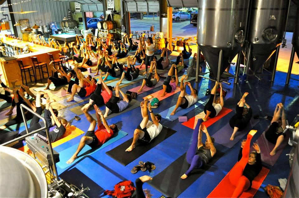 Bendy Brewski Yoga yoga class