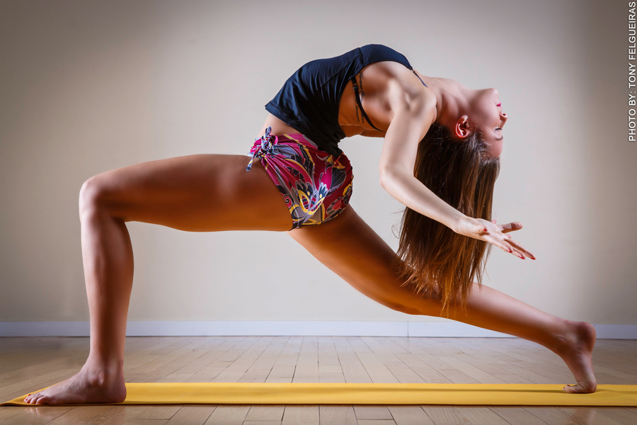 letting go into yoga backbend pose