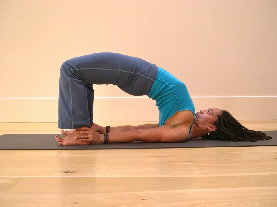 Setu Bandhasana bridge yoga pose