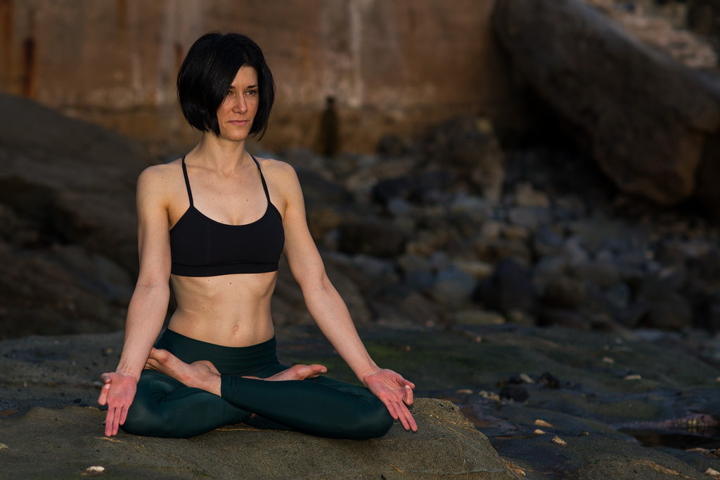 yogi in Padmasana yoga pose