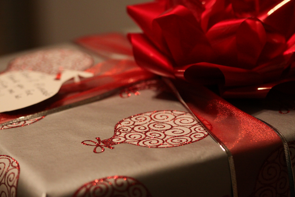 unwrapping present