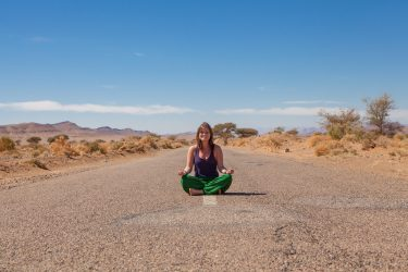 yoga on the road