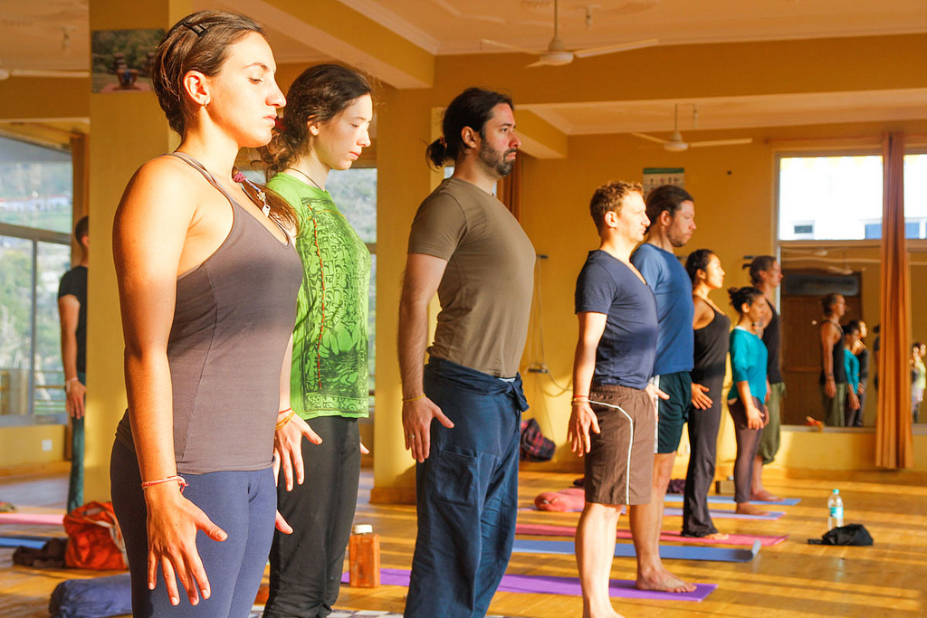 cues in yoga class