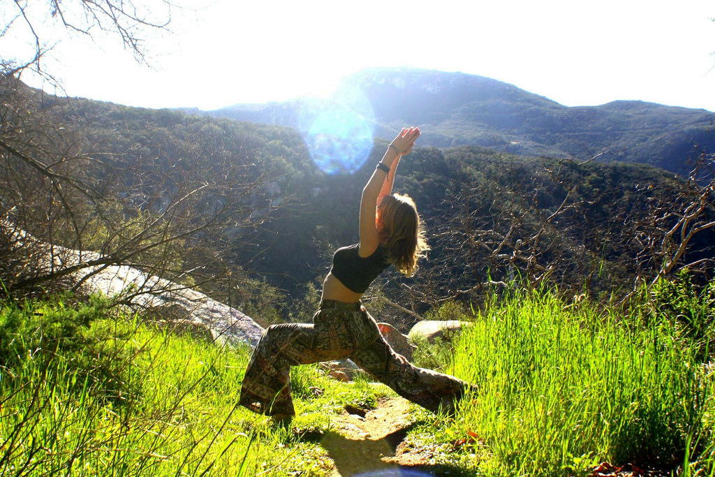 eco yoga pose nature
