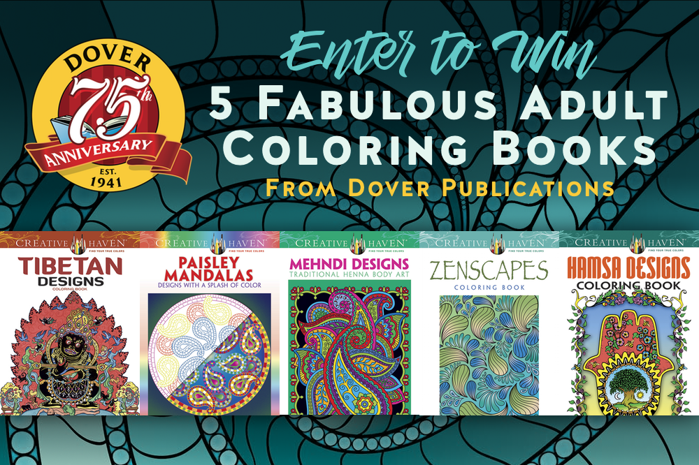 May Giveaway: Dover Adult Coloring Books