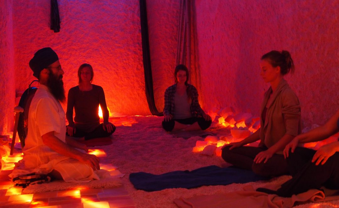 yoga in salt cave
