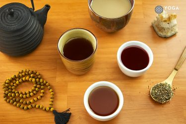 autumn tea for yoga