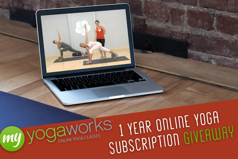 1 Year Online Yoga Subscription giveaway