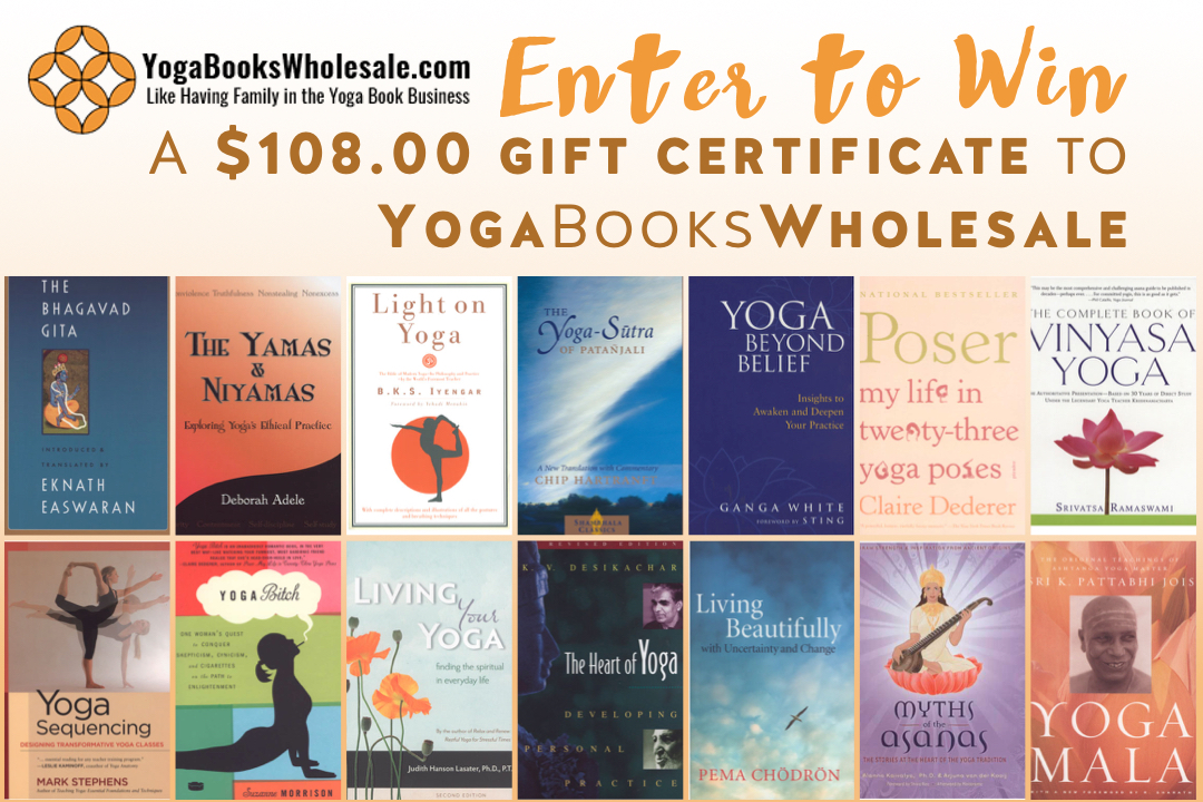 YogaBooksWholesale Gift Certificate Giveaway contest