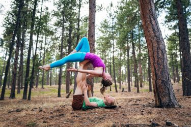 acroyoga teachers Matt and Kristen