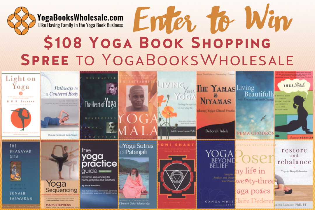 $108.00 yoga book buying spree Giveaway