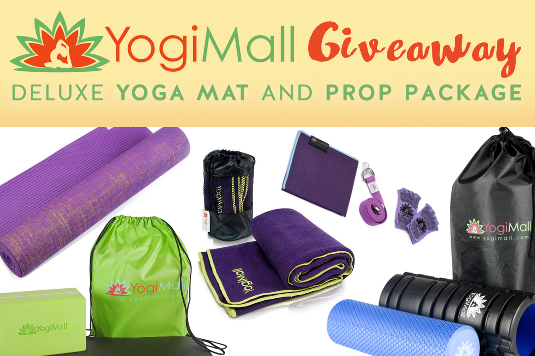 YogiMall Giveaway: deluxe yoga mat and prop package