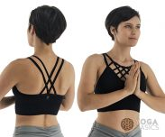 strappy yoga seamless bra