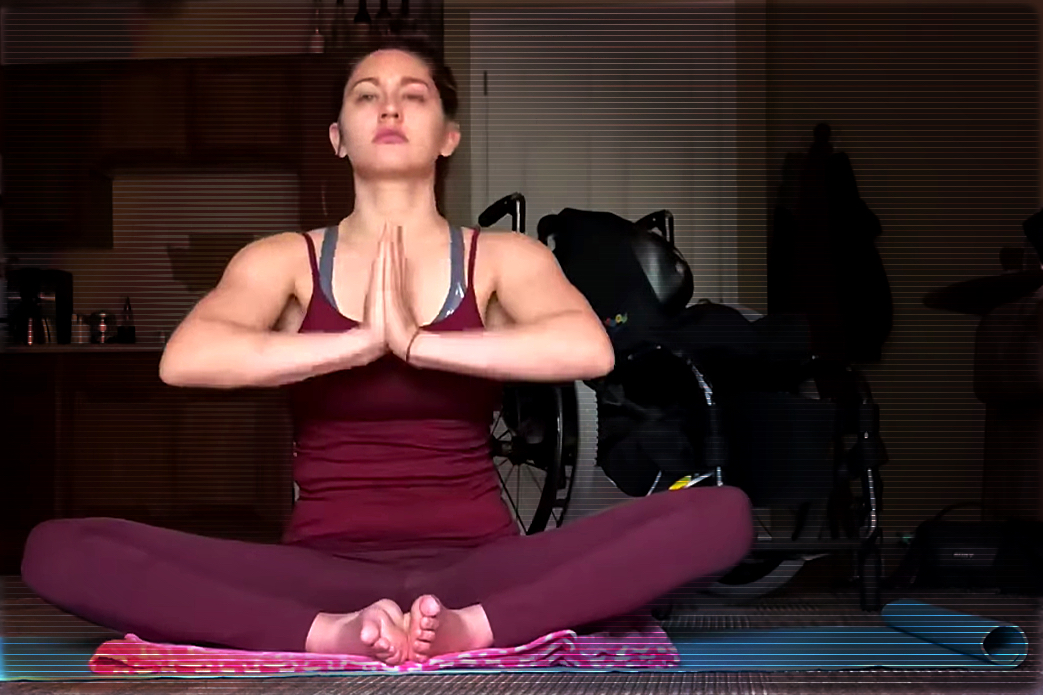 Yoga Practice Video with Paralysis