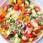 veggie greek salad