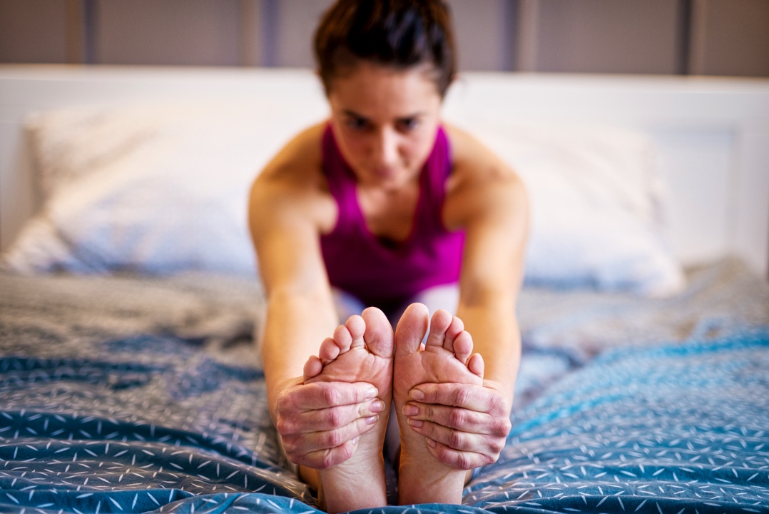 morning yoga in bed
