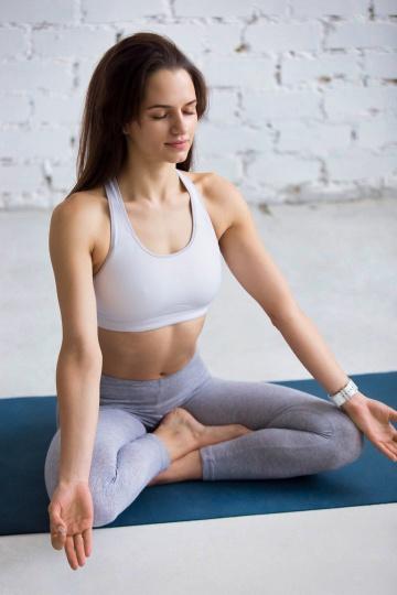 practicing pranayama